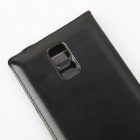 SXP005 Stylish Flip Open PU + PC Case w/ Display Window for Samsung Galaxy S5 - Black