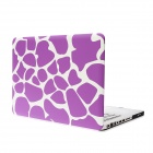 "Hat-Prince Deer Skin Pattern Flip Open Polycarbonate Case for 15.4"" MACBOOK PRO - Purple + White"