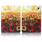 Hat-prince Flowers Pattern Protective Case w/ Stand for Samsung Galaxy Tab S 10.5 T800