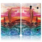 ENKAY Sailing Boat Pattern Protective PU Leather Case for Samsung Galaxy Tab S 8.4 T700