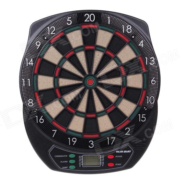 WMG08580 Professional 18 Soft Tip Electronic Voice Dartboard with 6-Dart - Black + Multicolor winmax best quality top design blade wire system professional bristle dartboard for match play