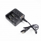 KINFIRE K-S3 Multifunction 2-Slot Battery Charger for 26650 / 22650 / 18650 / AA + More - Black