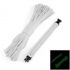 OUMILY 9-Core Luminous Survival Parachute Rope / Cord + Luminous Bracelet - White