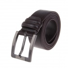 Men's Fashionable Leather Belt w/ Zinc Alloy Pin Buckle - Dark Brown