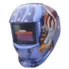NEJE SD0001-3 Eagle Solar Auto Darkening UV / IR Protection Welding Helmet Goggles - Blue + Red