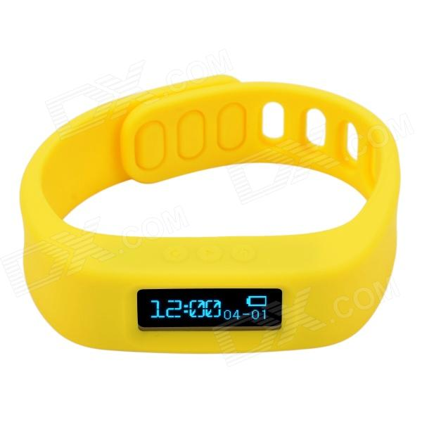 CHEERLINK Y03 0.84 Touch Screen Bluetooth V4.0 Multifunction Smart Bracelet for Andriod - Yellow pg 9027 bluetooth selfie remote controller shutter ball for iphone android phones 1 x cr2032
