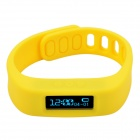 "CHEERLINK Y03 0.84"" Touch Screen Bluetooth V4.0 Multifunction Smart Bracelet for Andriod - Yellow"