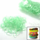 "S2014060008 DIY Looms Elastic Silicone Rainbow Bands + ""S"" Hooks Set for Children - Green"