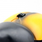Lifelike 360' Rotating Infrared Remote Beetle w/ LED Eye Toy - Yellow