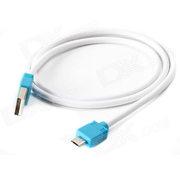 Фото YUANXIN X-2012RE USB 2.0 Charging/Data Extension Cable for Samsung - Blue + White (80cm) yuanxin x 2012re usb 2 0 charging data extension cable for samsung red white 80cm