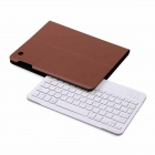 B.O.W Detachable Bluetooth V3.0 79-Key Clavier/Keyboard w/ PU Leather Case for IPAD 2 / 3 / 4 - Brown