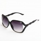 WG-S1092 Stylish Large Lens UV400 Sunglasses - Black + Grey