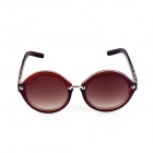 SYS0045 Retro Style PC Frame PC Lens UV400 Protection Sunglasses for Women - Brown
