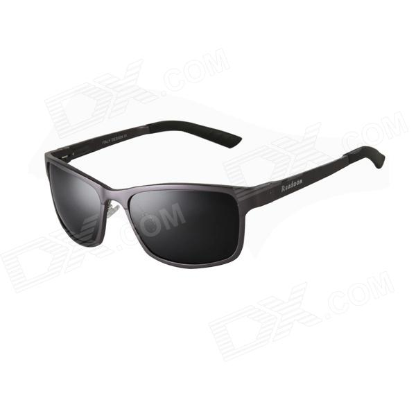 Reedoon 2299 Men's Aluminum Magnesium UV400 Polarized Sunglasses - Gun-gray