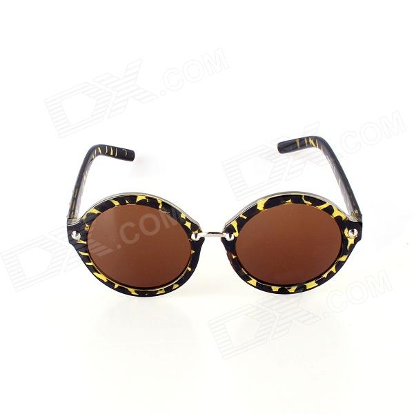 SYS0044 Retro Style PC Frame PC Lens UV400 Protection Sunglasses for Women - Black Leopard - DXSunglasses<br>Suitable for outdoor travel mountain climbing take a walk.<br>