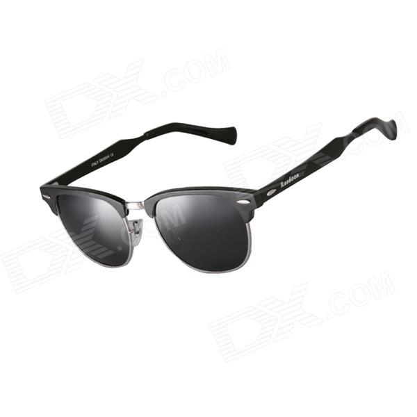 Reedoon 2276 Men's Stylish Small Frame UV400 Polarized Sunglasses - Black reedoon 1417 trend of the goddess hip hop sunshade sunglasses black golden