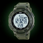SKMEI Hombres simple Rotary Dial Movimiento Electronic Sports Watch - Ejército Verde (1 x CR2025)