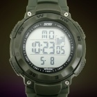 SKMEI Men's Simple Rotary Dial Electronic Movement Sports Watch - Army Green (1 x CR2025)
