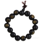 Royal Tree Wood Buddha Bracelet Gift Black
