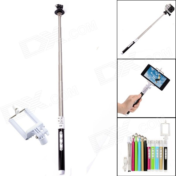 Dispha G-499 Bluetooth Intelligent Retractable Monopod for GoPro / IPHONE / Cellphone - Silver goojprt mtp 3 portable 80mm bluetooth thermal printer exquisite lightweight design eu plug support android pos multi language