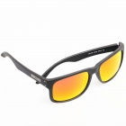 OREKA OR14006 Fashionable TR Frame Resin Lens UV400 Sunglasses - Black + Red REVO
