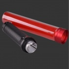 3W Red Light LED Mão Light Stick liga de alumínio lanterna LED - Red + Black (3 x AAA)