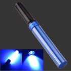 3W Blue Light LED Hand Light Stick Aluminum Alloy LED Flashlight - Blue + Black (3 x AAA)