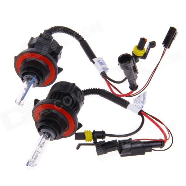 H13 35W 3200lm 4300K Warm White Light Car HID Xenon Lamp Bulbs - Transparent + Black (12V / 2 PCS)