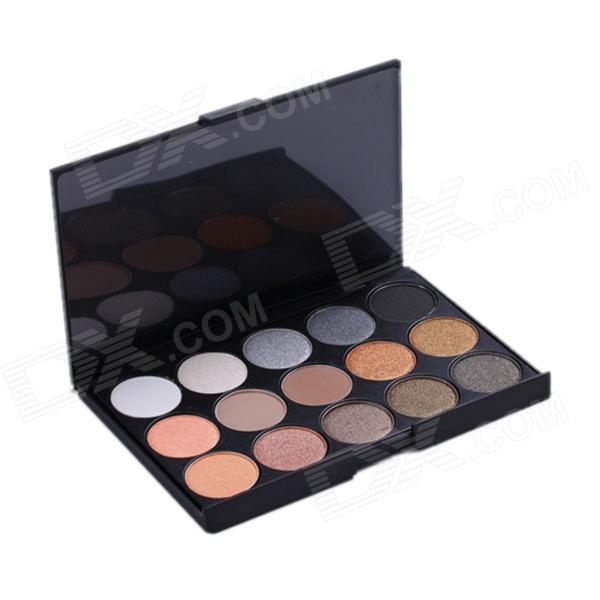 Professional Cosmetic Makeup 15-Color Eye Shadow Palette - Black