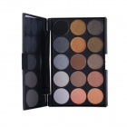 Professional Cosmetic Meikki 15-Color Eye Shadow Palette - Musta
