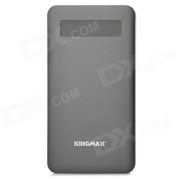 KINGMAX KEBG-M01 Universal 5V 4000mAh Li-polymer Battery Power Bank w/ Indicator - Black + Silver kingmax kebg m01 universal 5v 4000mah li polymer battery power bank w led indicator silver