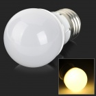 E27 3W 200lm 3000K 16-SMD 2835 LED Warm White Light Bulb - Silver + White (100~250V)