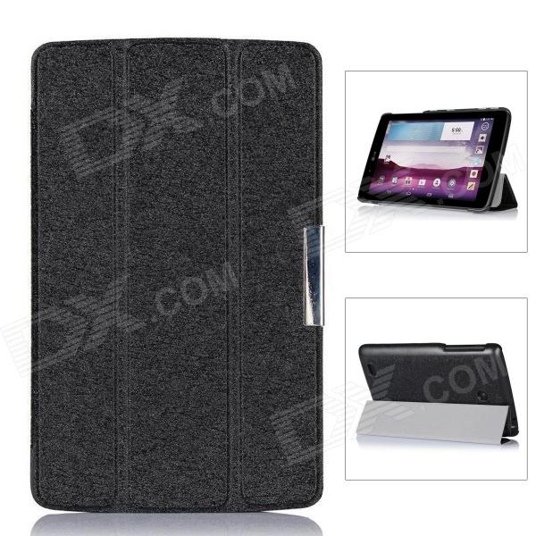 Protective PU Leather Case Cover w/ Magnetic Closure for LG G Pad 7.0 - Black yi yi protective tpu back case cover w screen protector for lg g pad v500 purple