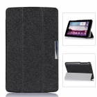Protective PU Leather Case Cover w/ Magnetic Closure for LG G Pad 7.0 - Black