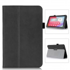Protective PU Leather Case w/ Hand Strap Holder for LG G Pad 10.1 - Black