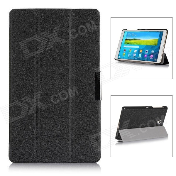 Protective PU Leather Case Cover w/ Magnetic Closure for Samsung Galaxy Tab S 8.4 / T700 - Black dali 14 1 6а