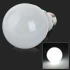 E27 7W 500lm 6000K 36-SMD 2835 LED White Light Bulb - Silver + White (100~250V)