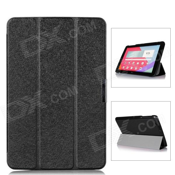 Protective PU Leather Case Cover w/ Magnetic Closure for LG G Pad 10.1 - Black yi yi protective tpu back case cover w screen protector for lg g pad v500 purple