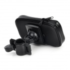 Alta calidad Bike Mount Holder + bolso impermeable para MOTO E - Negro