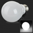 E27 5W 300lm 6000K 26-SMD 2835 LED White Light Bulb - Silver + White (100~250V)