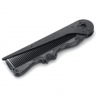 Portable Foldable Pointed Tail Plastic Comb - Black