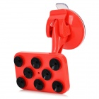 360' Rotary Suction Cup Car Mount Holder + Stylus for HTC / IPHONE / Samsung + More - Red + Black