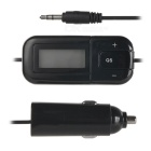 "T-1302 1.2"" LCD Screen Car Audio FM Transmitter w/ Car Charger Adapter, 3.5mm Plug - Black"