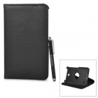 Lychee Pattern Rotary Protective PU Case w/ Stylus Pen for Samsung Galaxy Tab 4 7.0 T230 / T231