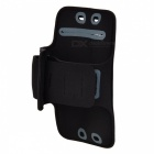Sunshine Adjustable Velcro Sport Nylon + PVC Armband for LG G3 - Black