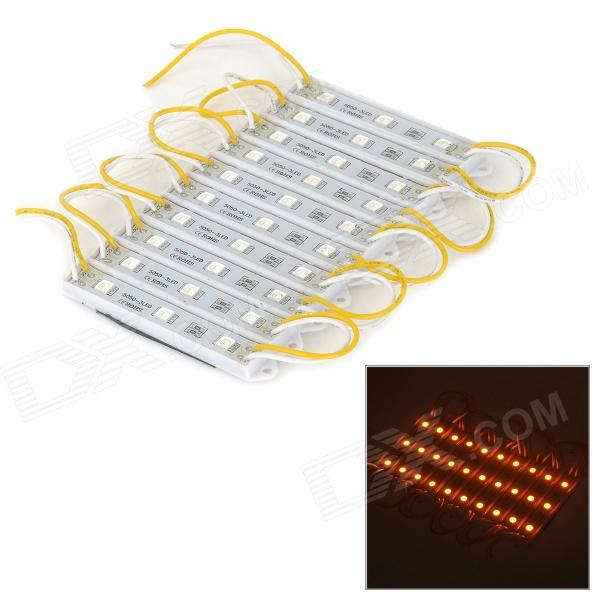 6W 60lm 597nm 30-LED Yellow Light Strips - White + Yellow (DC 12V / 10 PCS)