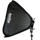 Godox S-Type Speedlite Bracket Mount Holder + 50 x 50cm Softbox for Studio Photography - Black