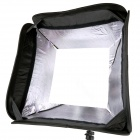 Godox S-Type Speedlite Mount Bracket Support + 50 x 50cm Softbox pour Studio Photographie - Noir