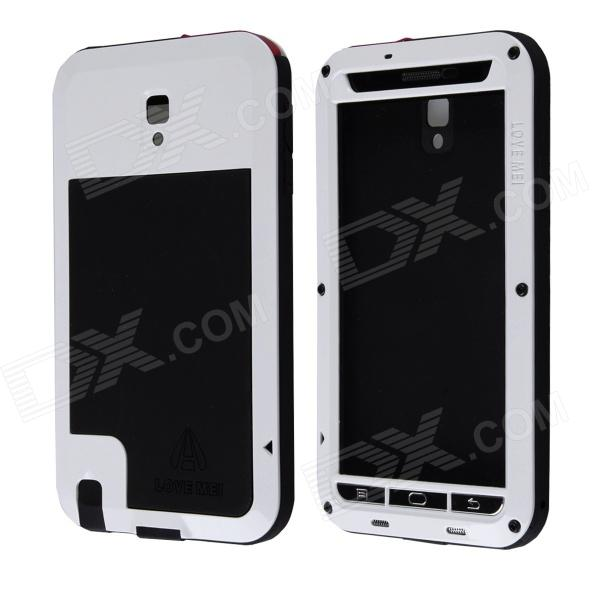 LOVE MEI HW01 Aluminum Alloy + Silicone Case w/ Strap for Samsung Galaxy Note 3 - Black + White