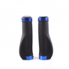 PJ-0026 Mountain Bike Antiskid Handlebar Grip Cover - Black + Blue (2 PCS)